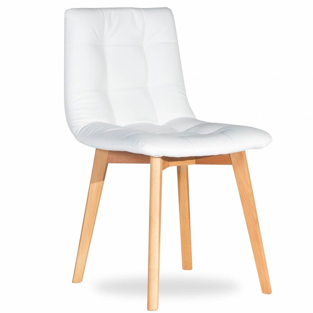 Deco in paris 1 lot de 2 chaises scandinave blanche fany for Chaise blanche scandinave
