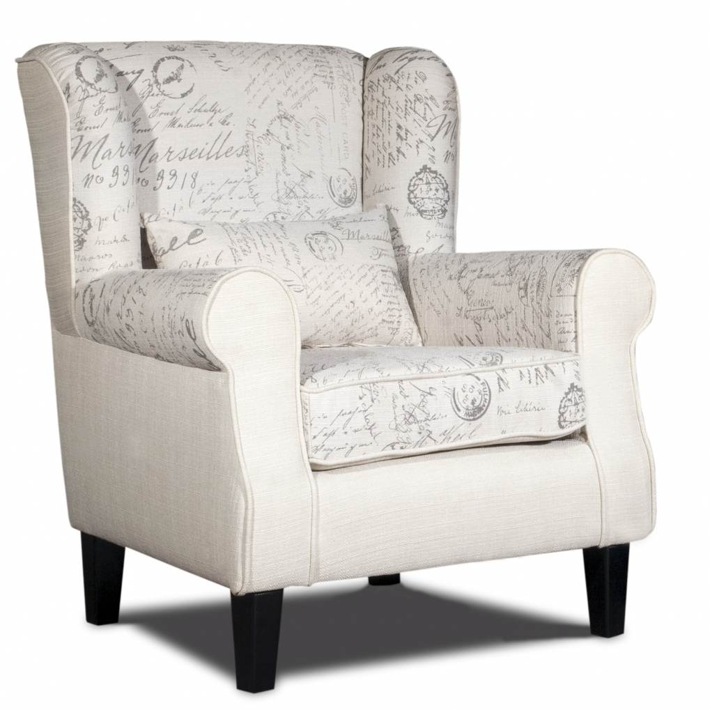 deco in paris fauteuil blanc en tissu imprime king king blanc fauteuil. Black Bedroom Furniture Sets. Home Design Ideas