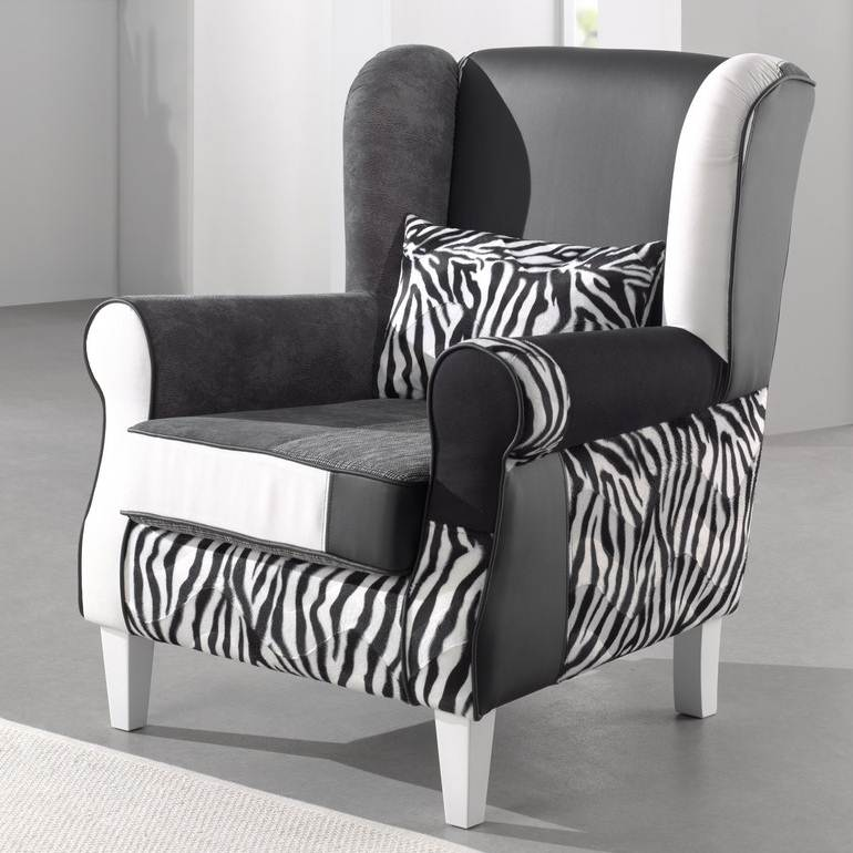 deco in paris fauteuil noir et blanc zebre faut. Black Bedroom Furniture Sets. Home Design Ideas