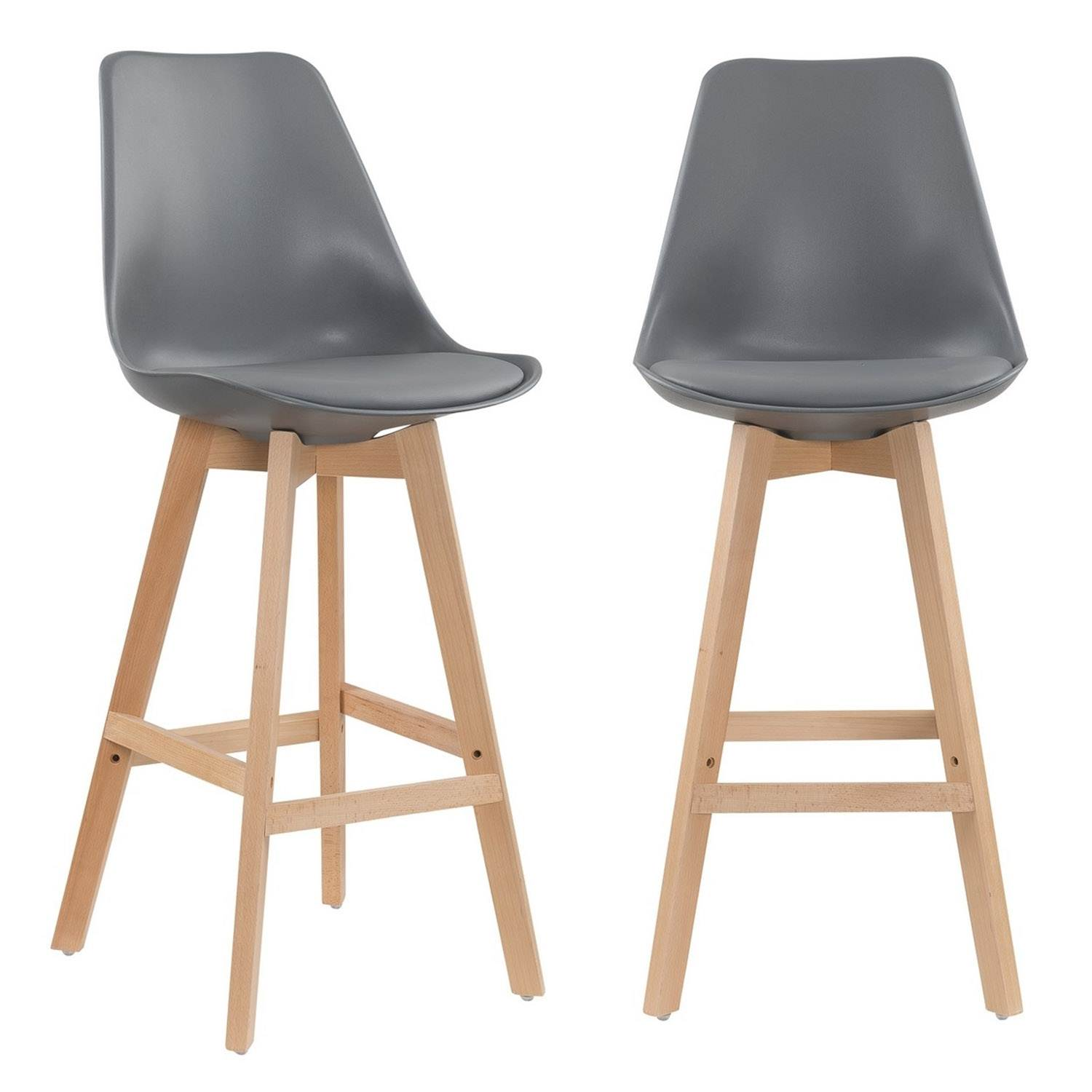 deco in paris 8 lot de 2 tabourets de bar scandinave gris gala tabouret gala gris. Black Bedroom Furniture Sets. Home Design Ideas