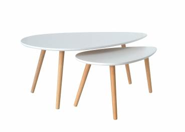 Deco in paris table basse for Table blanche scandinave