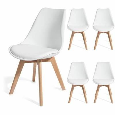 deco in paris 1 lot de 4 chaises scandinave blanc gala. Black Bedroom Furniture Sets. Home Design Ideas