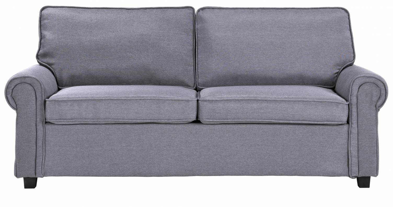 Deco in paris canape convertible 3 places en tissu gris - Canape sacha ...