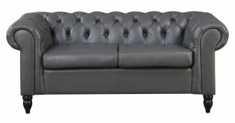 Canapé Chesterfield 2 places gris WINSTON