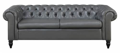 Canapé Chesterfield 3 places gris WINSTON