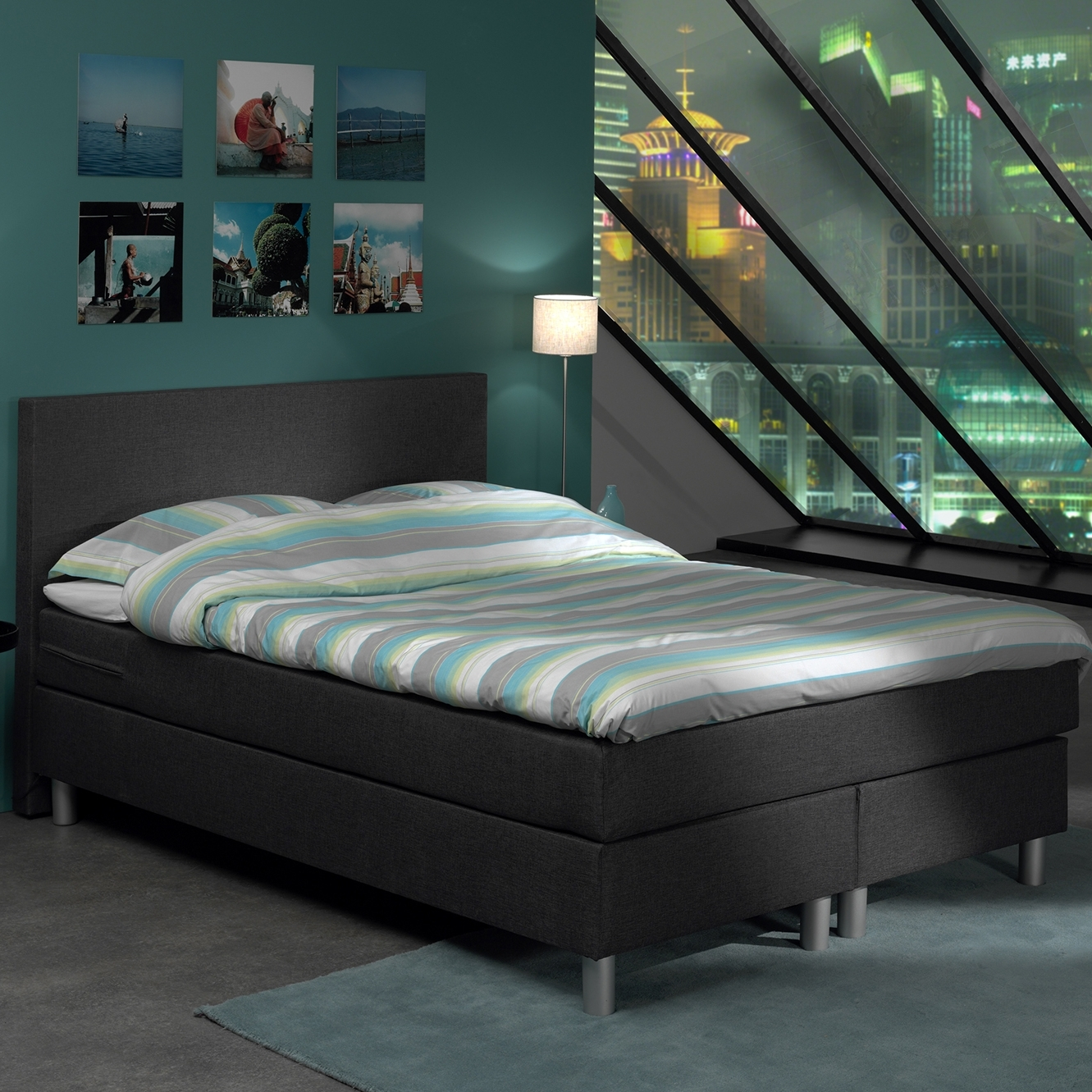 deco in paris 7 lit complet tete de lit matelas. Black Bedroom Furniture Sets. Home Design Ideas