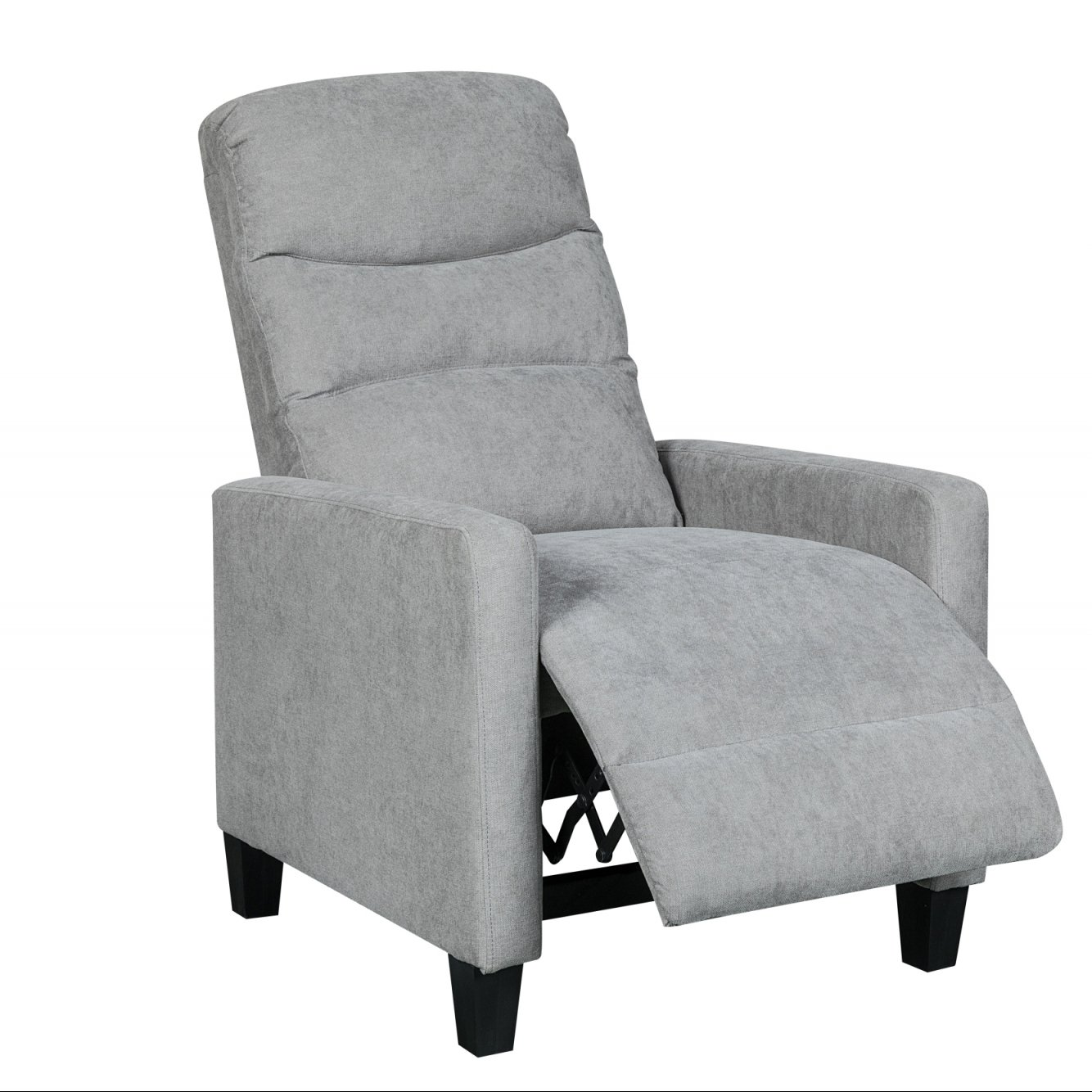 deco in paris 7 fauteuil relax en tissu gris fonce kirian kirian gris fonce. Black Bedroom Furniture Sets. Home Design Ideas