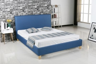 deco in paris 9 lit scandinave en tissu bleu brook 160x200 cm brook 160 bleu. Black Bedroom Furniture Sets. Home Design Ideas