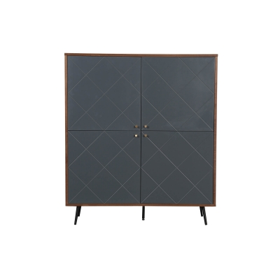 deco in paris buffet haut scandinave gris 4 portes arty. Black Bedroom Furniture Sets. Home Design Ideas