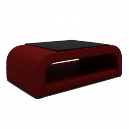 Table basse design rouge NELLY