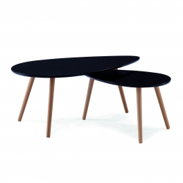 Table basse scandinave noir AVESTA