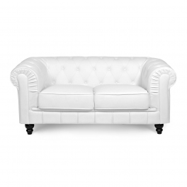Canapé 2 places Blanc CHESTERFIELD
