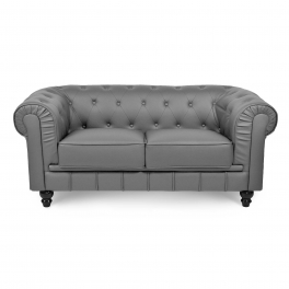 Canapé 2 places Gris CHESTERFIELD
