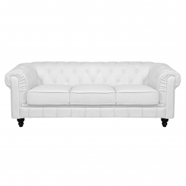 Canapé 3 places blanc CHESTERFIELD