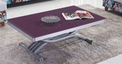 TABLE BASSE RELEVABLE 2 ALLONGES violet STUDIO