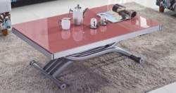 TABLE BASSE RELEVABLE 2 ALLONGES ROUGE STUDIO