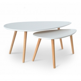 Table basse scandinave blanc AVESTA