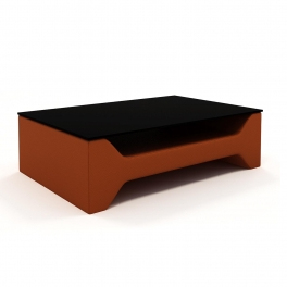 Table basse design marron CELIA