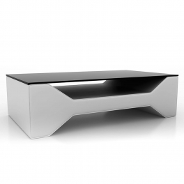 Table basse design blanche CELIA
